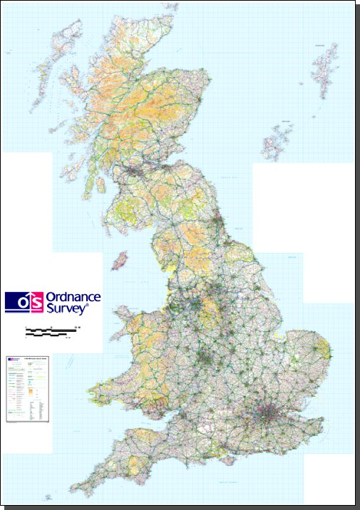 photo regarding Printable Maps of England identify Organized-in direction of-print maps of Britain in opposition to Ordnance Study (PDF, A0